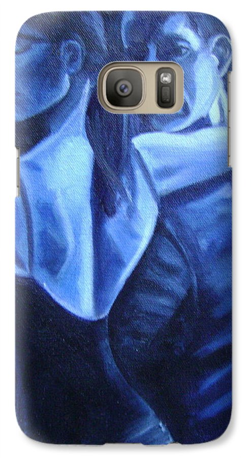 Galaxy S7 Case featuring the painting Bludance by Toni Berry