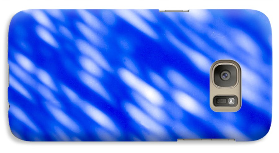 Abstract Galaxy S7 Case featuring the photograph Blue Abstract 1 by Tony Cordoza