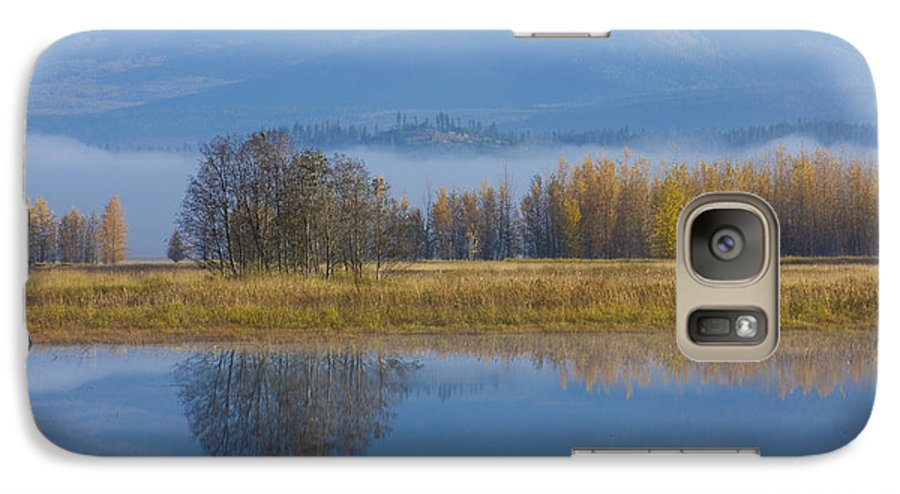 Blue Galaxy S7 Case featuring the photograph Blue And Gold by Idaho Scenic Images Linda Lantzy