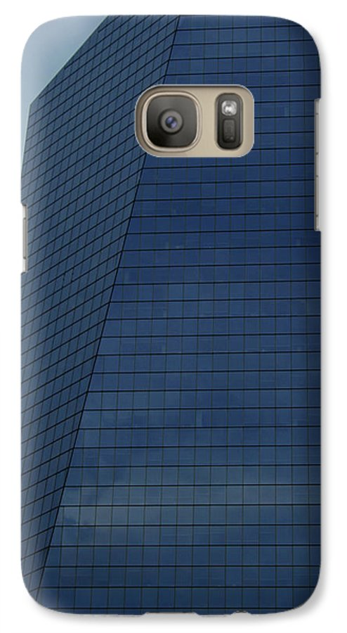 City Galaxy S7 Case featuring the photograph Blue Building by Linda Sannuti