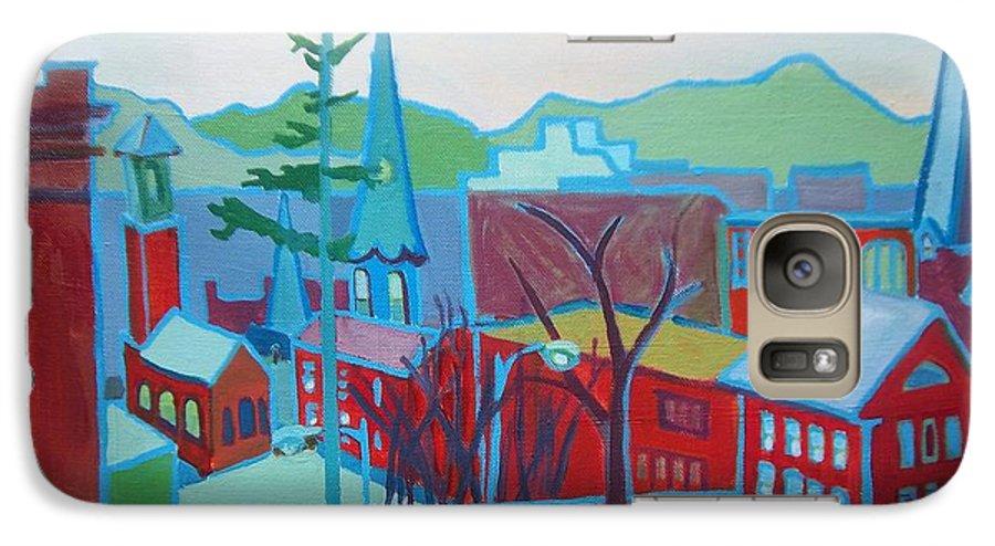 Burlington Galaxy S7 Case featuring the painting Blue Burlington by Debra Bretton Robinson