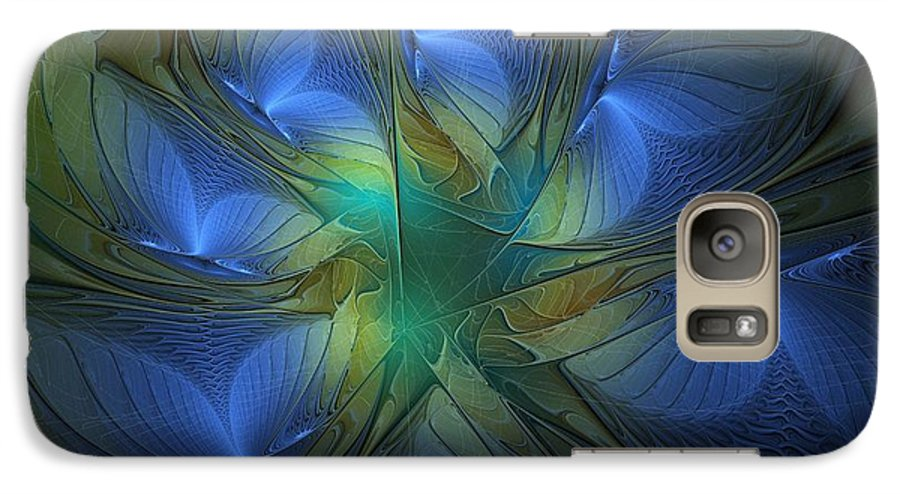 Digital Art Galaxy S7 Case featuring the digital art Blue Butterflies by Amanda Moore