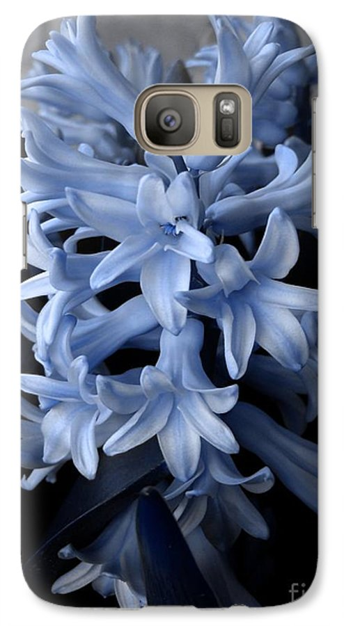 Blue Galaxy S7 Case featuring the photograph Blue Hyacinth by Shelley Jones