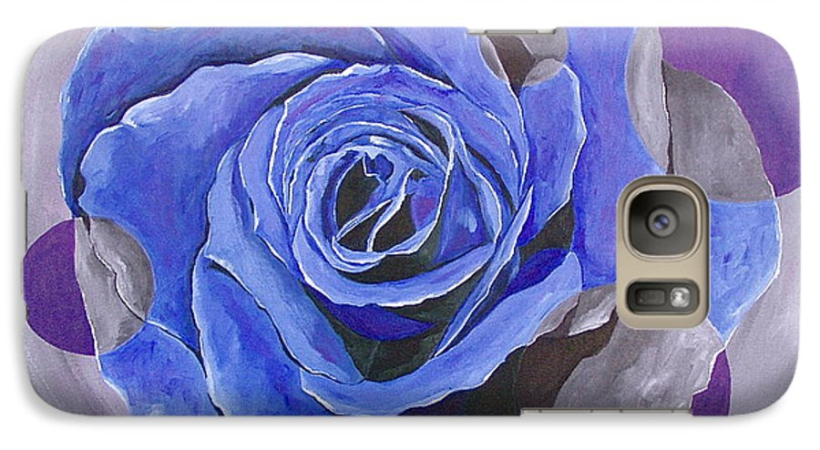 Acrylic Galaxy S7 Case featuring the painting Blue Ice by Herschel Fall