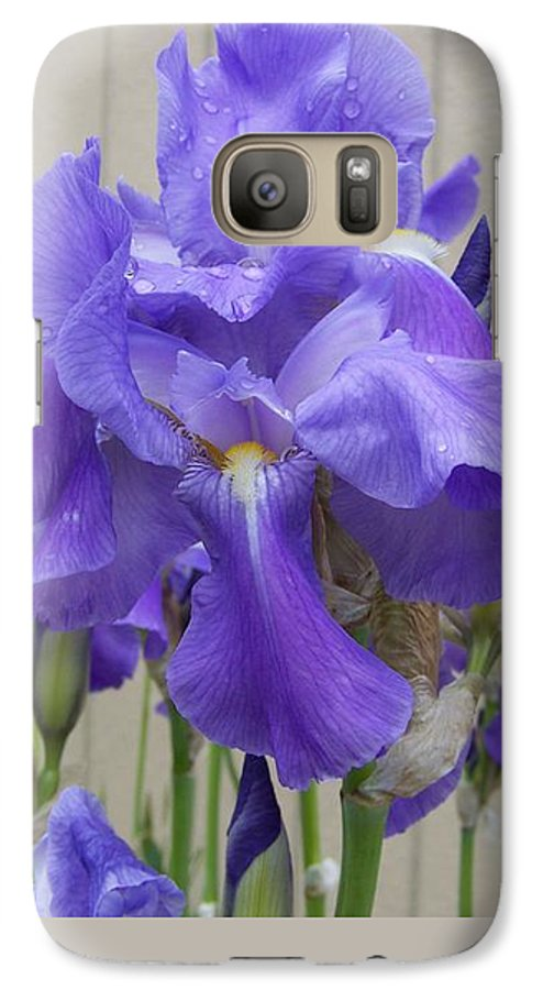 Flowers Galaxy S7 Case featuring the photograph Blue Iris by Laurie Kidd