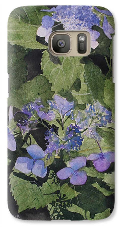 Flowers Galaxy S7 Case featuring the painting Blue Lace by Jean Blackmer