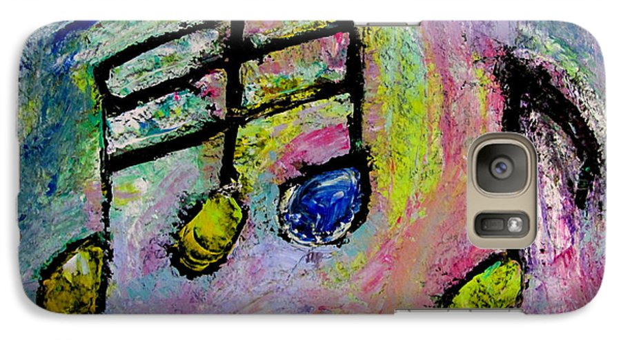 Impressionist Galaxy S7 Case featuring the painting Blue Note by Anita Burgermeister