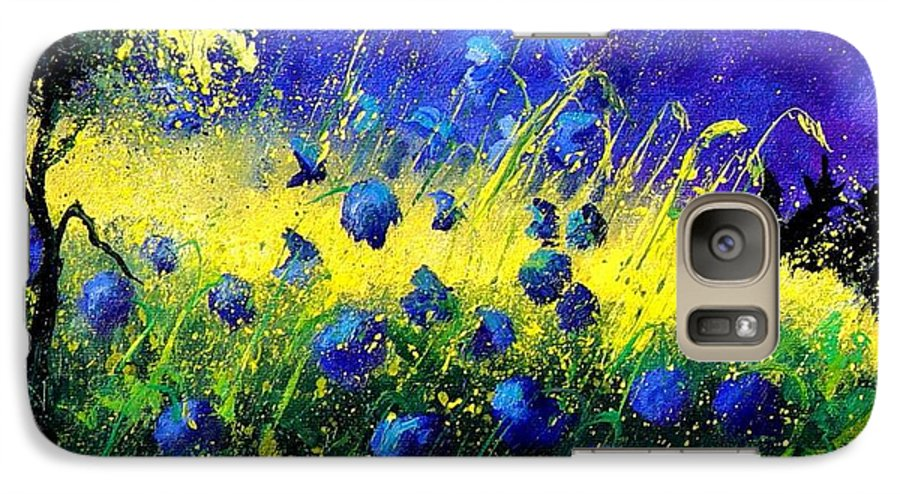 Flowers Galaxy S7 Case featuring the painting Blue Poppies by Pol Ledent