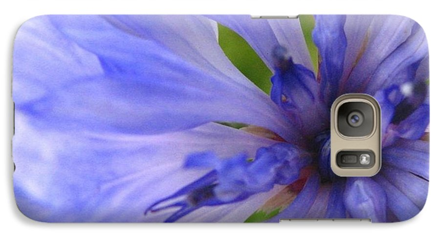 Flower Galaxy S7 Case featuring the photograph Blue Princess by Rhonda Barrett
