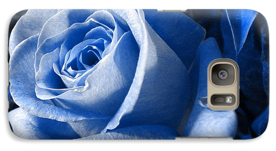 Blue Galaxy S7 Case featuring the photograph Blue Rose by Shelley Jones