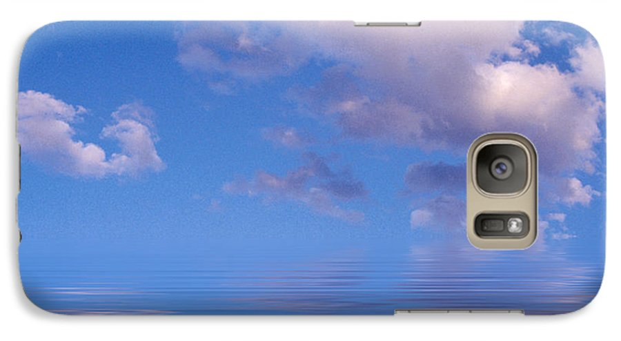 Original Art Galaxy S7 Case featuring the photograph Blue Sky Reflections by Jerry McElroy