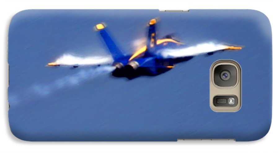 Blue Angles Galaxy S7 Case featuring the photograph Blue Solo by Larry Keahey