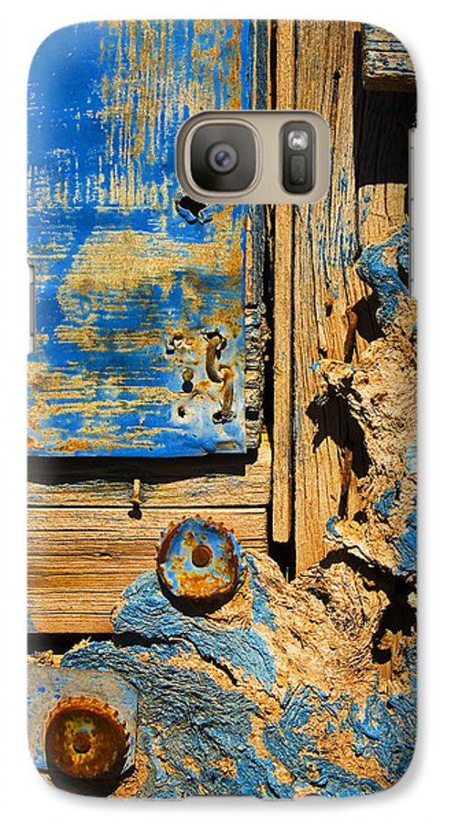 Abstract Galaxy S7 Case featuring the photograph Blues Dues by Skip Hunt