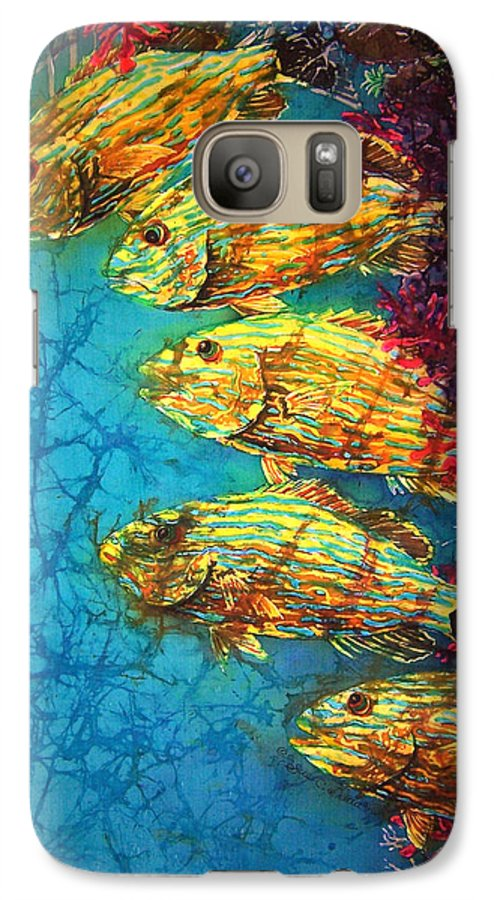 Bluestriped Grunts Galaxy S7 Case featuring the painting Bluestriped Grunts by Sue Duda
