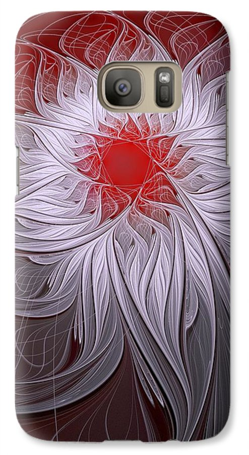 Digital Art Galaxy S7 Case featuring the digital art Blush by Amanda Moore