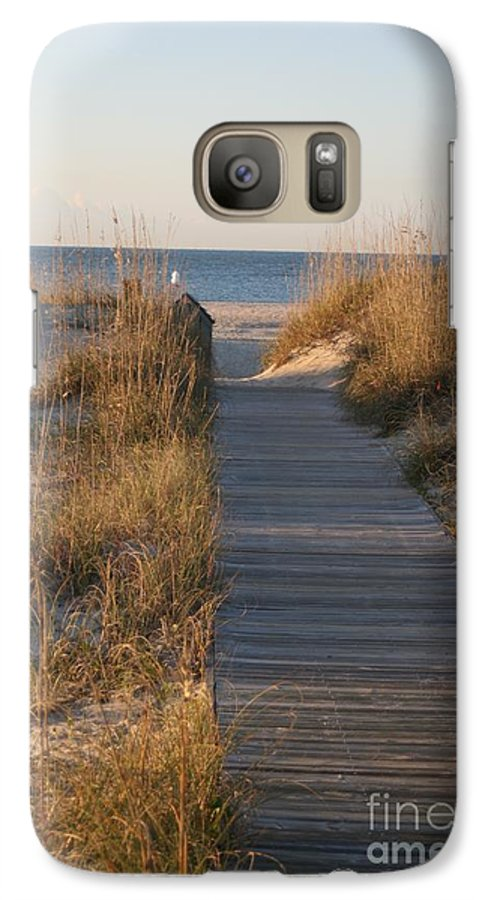 Boardwalk Galaxy S7 Case featuring the photograph Boardwalk To The Beach by Nadine Rippelmeyer