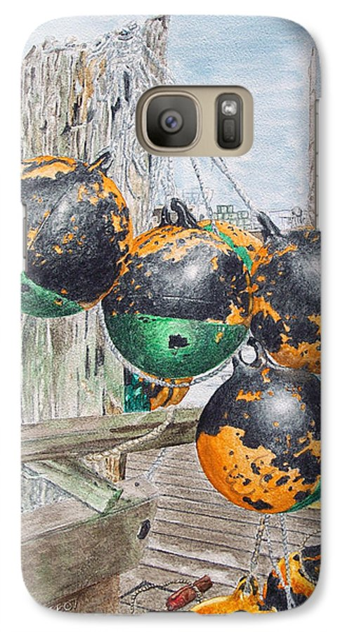 Boat Bumpers Galaxy S7 Case featuring the painting Boat Bumpers by Dominic White