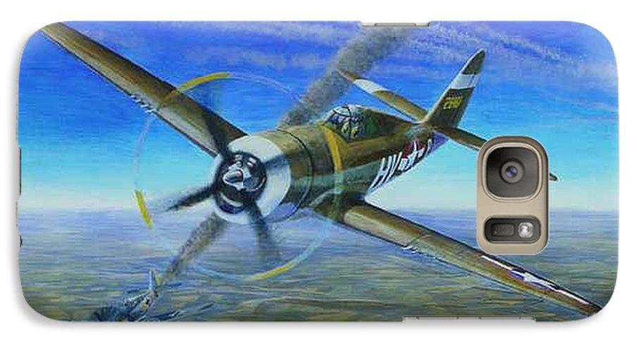 Bob Johnsons P-47 On October 10 Galaxy S7 Case featuring the painting Bob Johnsons Thunderbolt by Scott Robertson