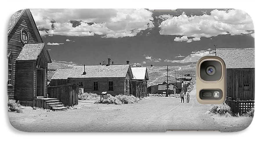 Ghost Town Galaxy S7 Case featuring the photograph Bodie A Ghost Town Infrared by Christine Till