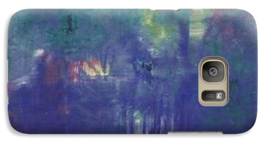 Park Galaxy S7 Case featuring the painting Bois De Boulogne by Michael Puya