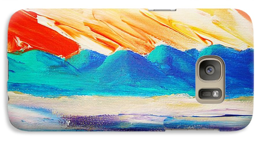 Bright Galaxy S7 Case featuring the painting Bold Day by Melinda Etzold