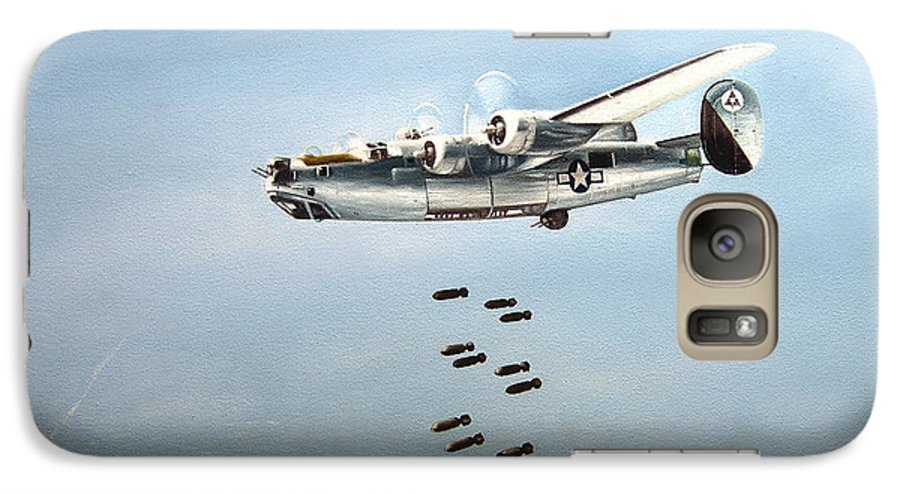 Aviation Galaxy S7 Case featuring the painting Bombs Away by Marc Stewart