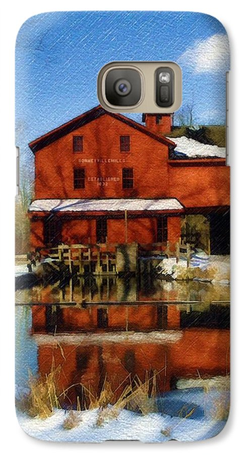 Bonneyville Mill Galaxy S7 Case featuring the photograph Bonneyville In Winter by Sandy MacGowan