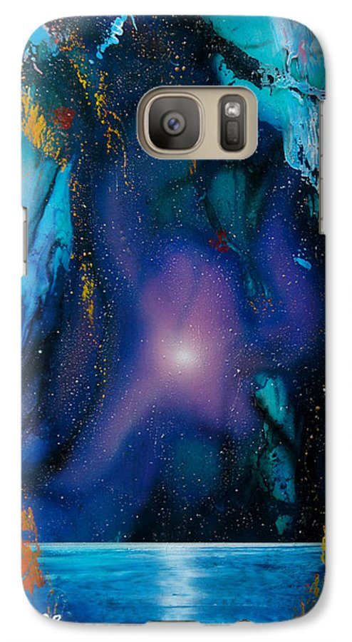 Nebula Caribe Galaxy S7 Case featuring the painting Borealis by Angel Ortiz
