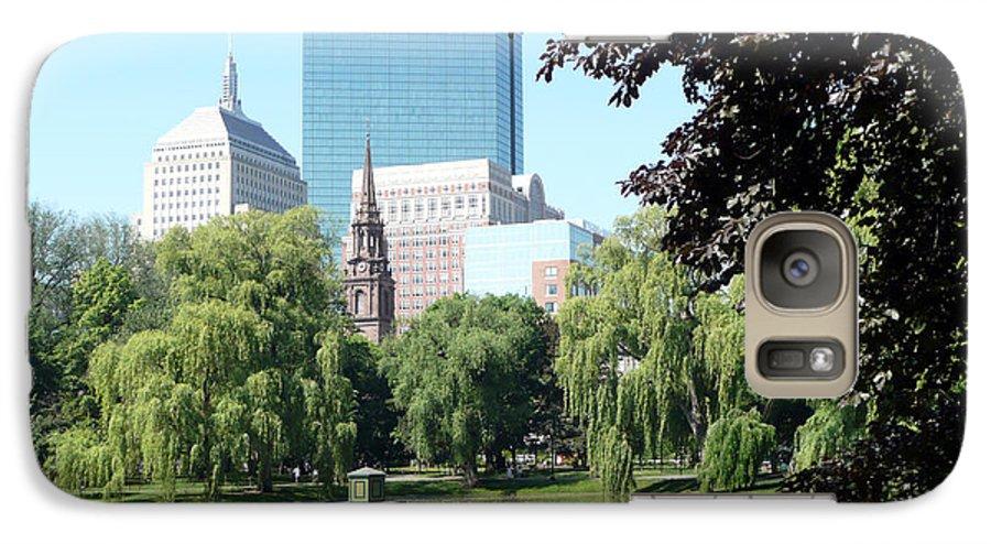 Garden Galaxy S7 Case featuring the photograph Boston Public Garden by Kathy Schumann