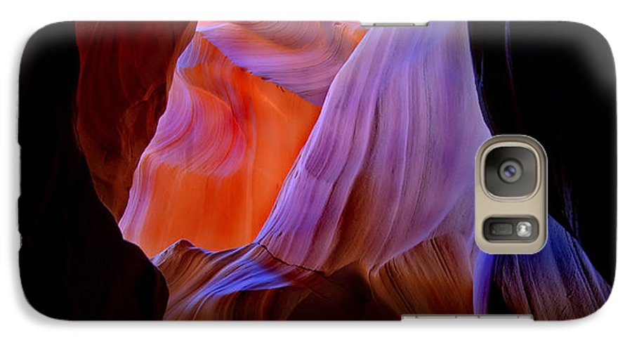 Canyon Galaxy S7 Case featuring the photograph Bottled Light by Mike Dawson