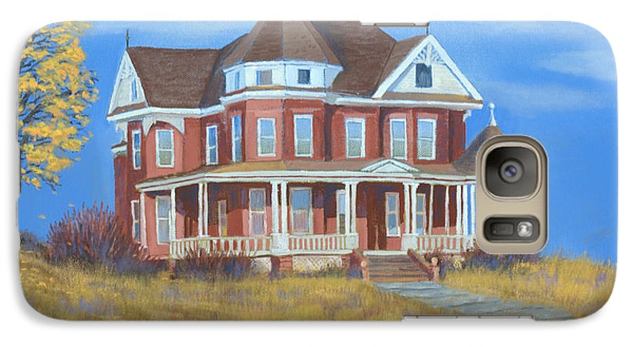 Boulder Galaxy S7 Case featuring the painting Boulder Victorian by Jerry McElroy