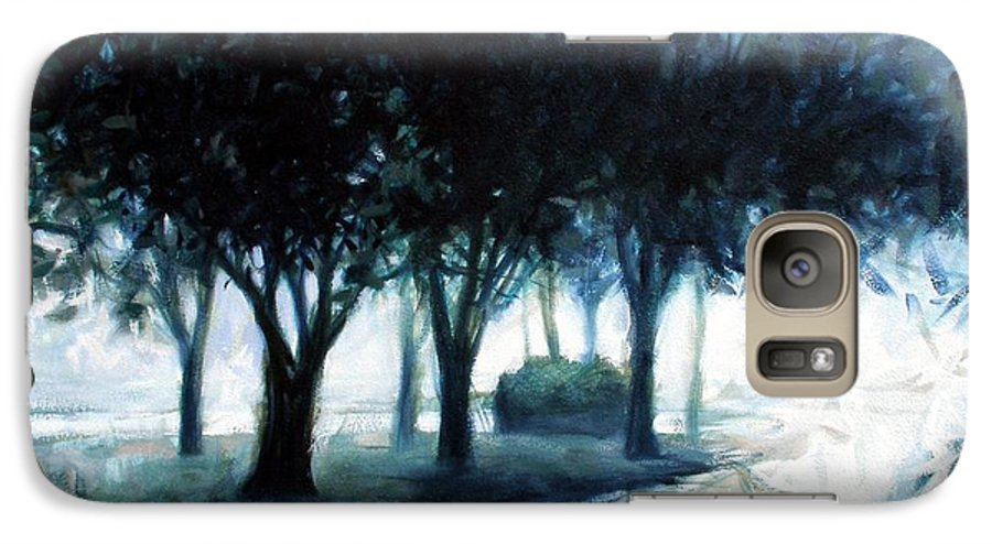 City Scape Galaxy S7 Case featuring the painting Boulevard by Kevin Lawrence Leveque