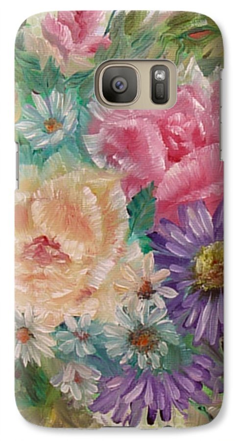 Rose Galaxy S7 Case featuring the painting Bouquet 2 by Quwatha Valentine