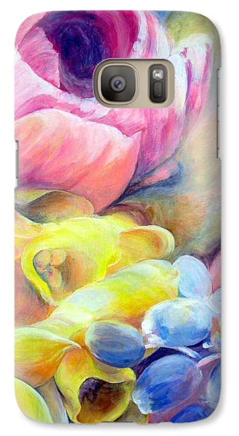 Flower Galaxy S7 Case featuring the painting Bouquet by Muriel Dolemieux