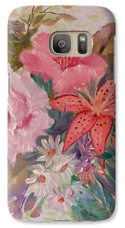 Rose Galaxy S7 Case featuring the painting Bouquet by Quwatha Valentine