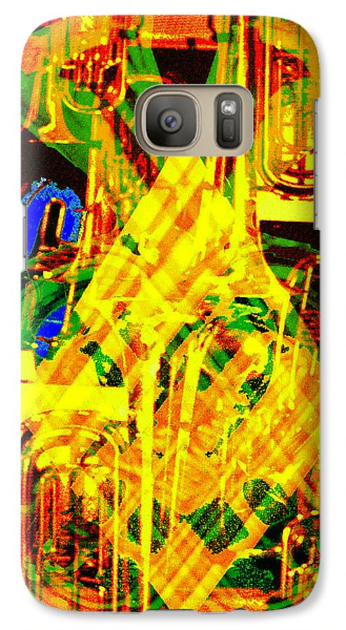 Festive Galaxy S7 Case featuring the digital art Brass Attack by Seth Weaver