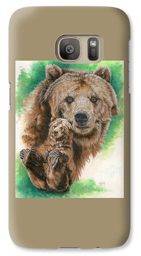 Bear Galaxy S7 Case featuring the mixed media Brawny by Barbara Keith