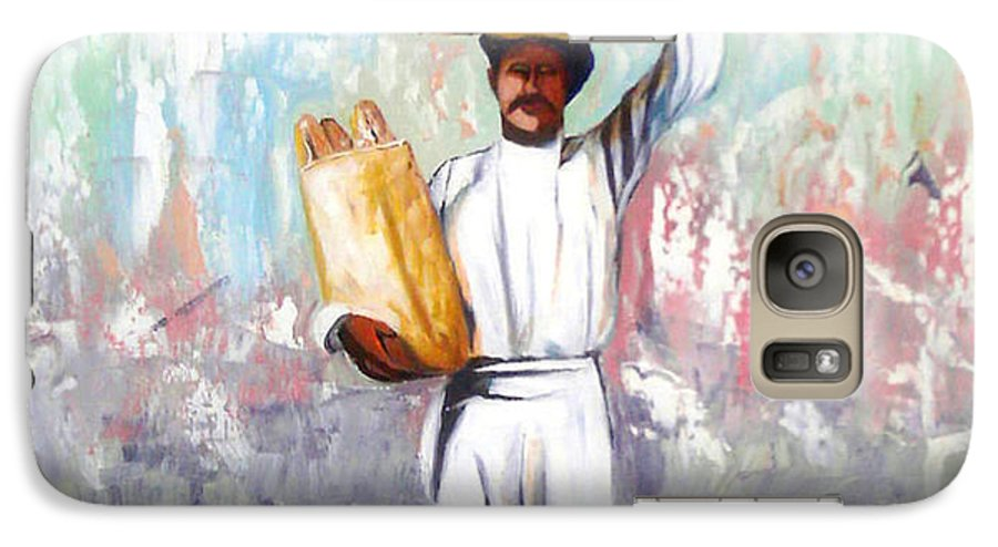 Bread Galaxy S7 Case featuring the painting Breadman by Jose Manuel Abraham