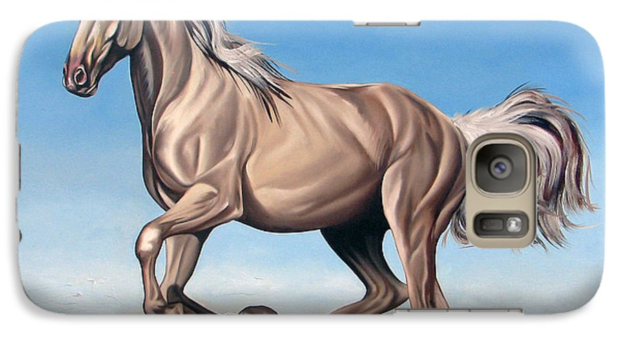 Horse Galaxy S7 Case featuring the painting Breeze by Ilse Kleyn