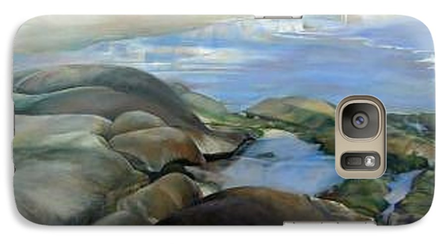 Paysage Galaxy S7 Case featuring the painting Bretagne 1 by Muriel Dolemieux