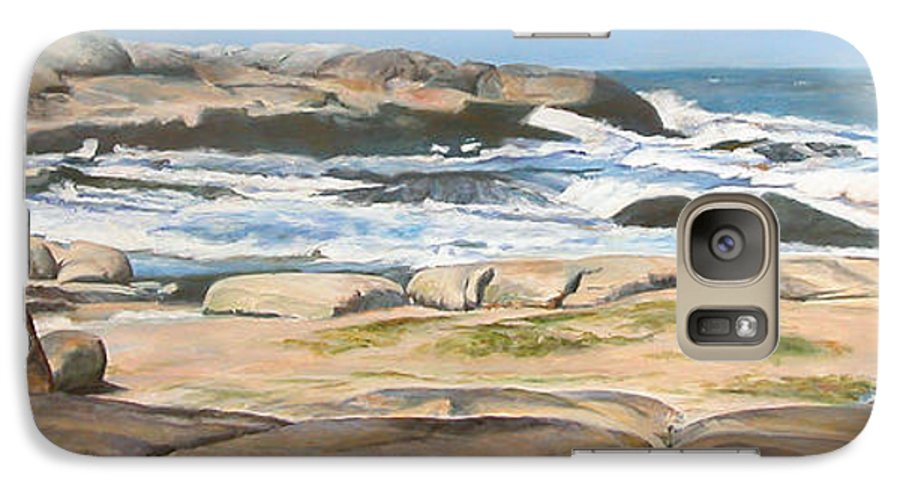 Paysage Galaxy S7 Case featuring the painting Bretagne 2 by Muriel Dolemieux