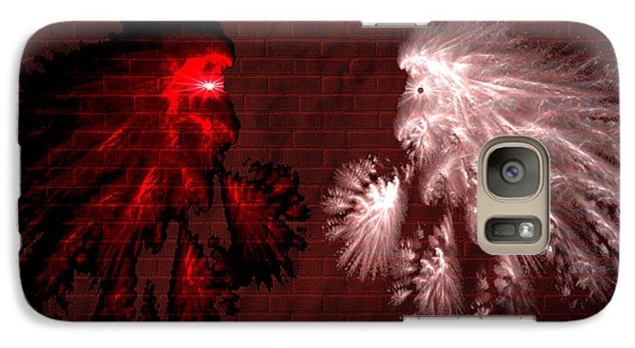 War Galaxy S7 Case featuring the digital art Brick Graffiti by Evelyn Patrick