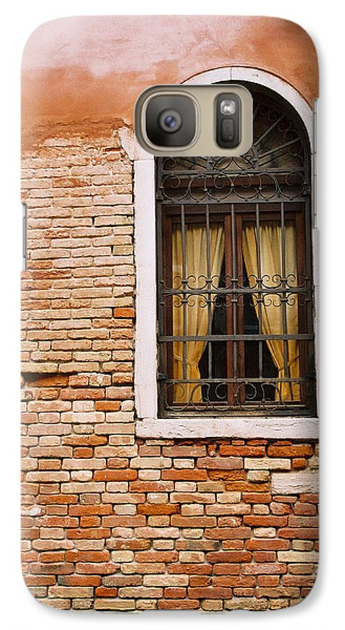 Window Galaxy S7 Case featuring the photograph Brick Window by Kathy Schumann