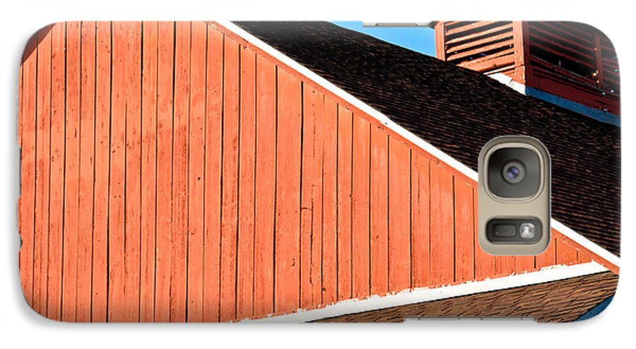 Americana Galaxy S7 Case featuring the photograph Bright Red Barn by Marilyn Hunt