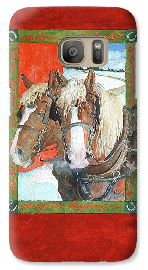 Horses Galaxy S7 Case featuring the painting Bright Spirits by Christie Michelsen