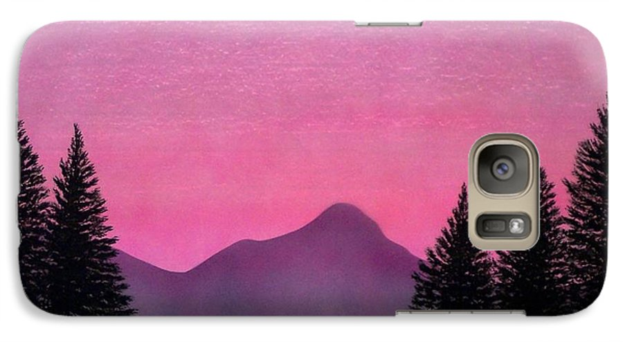 Landscape Galaxy S7 Case featuring the painting Brightness by Frank Wilson