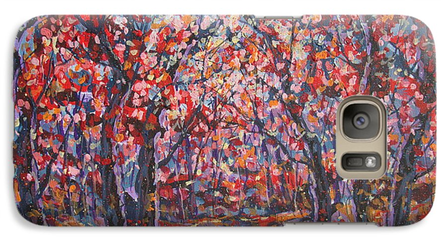 Forest Galaxy S7 Case featuring the painting Brilliant Autumn. by Leonard Holland