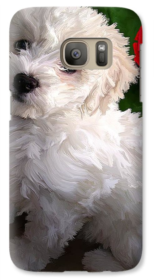Bichon Friese Galaxy S7 Case featuring the painting Bryce by David Wagner