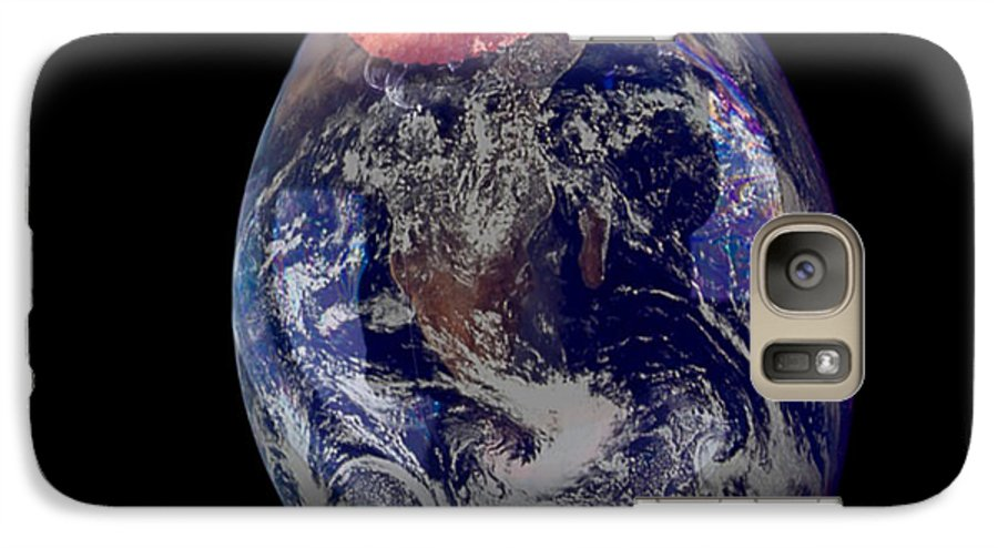 Earth Galaxy S7 Case featuring the photograph Bubble Earth by Jim DeLillo