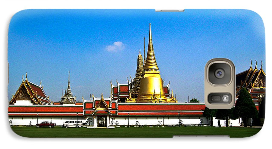 Buddha Galaxy S7 Case featuring the photograph Buddhaist Temple by Douglas Barnett